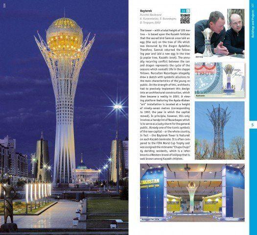 Blick in den Architekturführer Kasachstan
