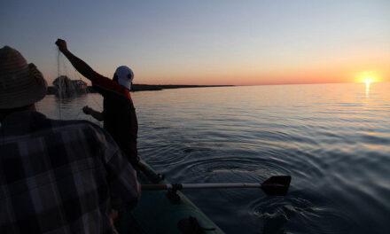 Shrinking lake in Kazakhstan portends hard, dry times ahead