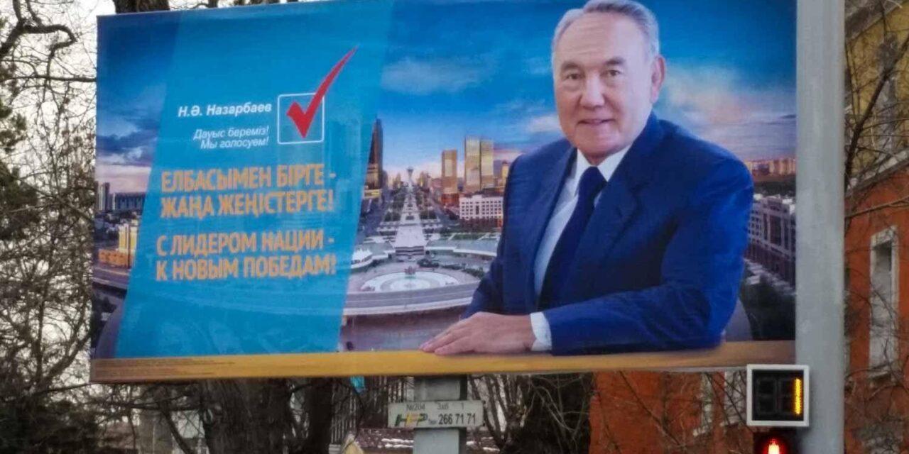 Wahlkampf in Kasachstan mit Präsident Nursultan Nasarbajew © Edda Schlager