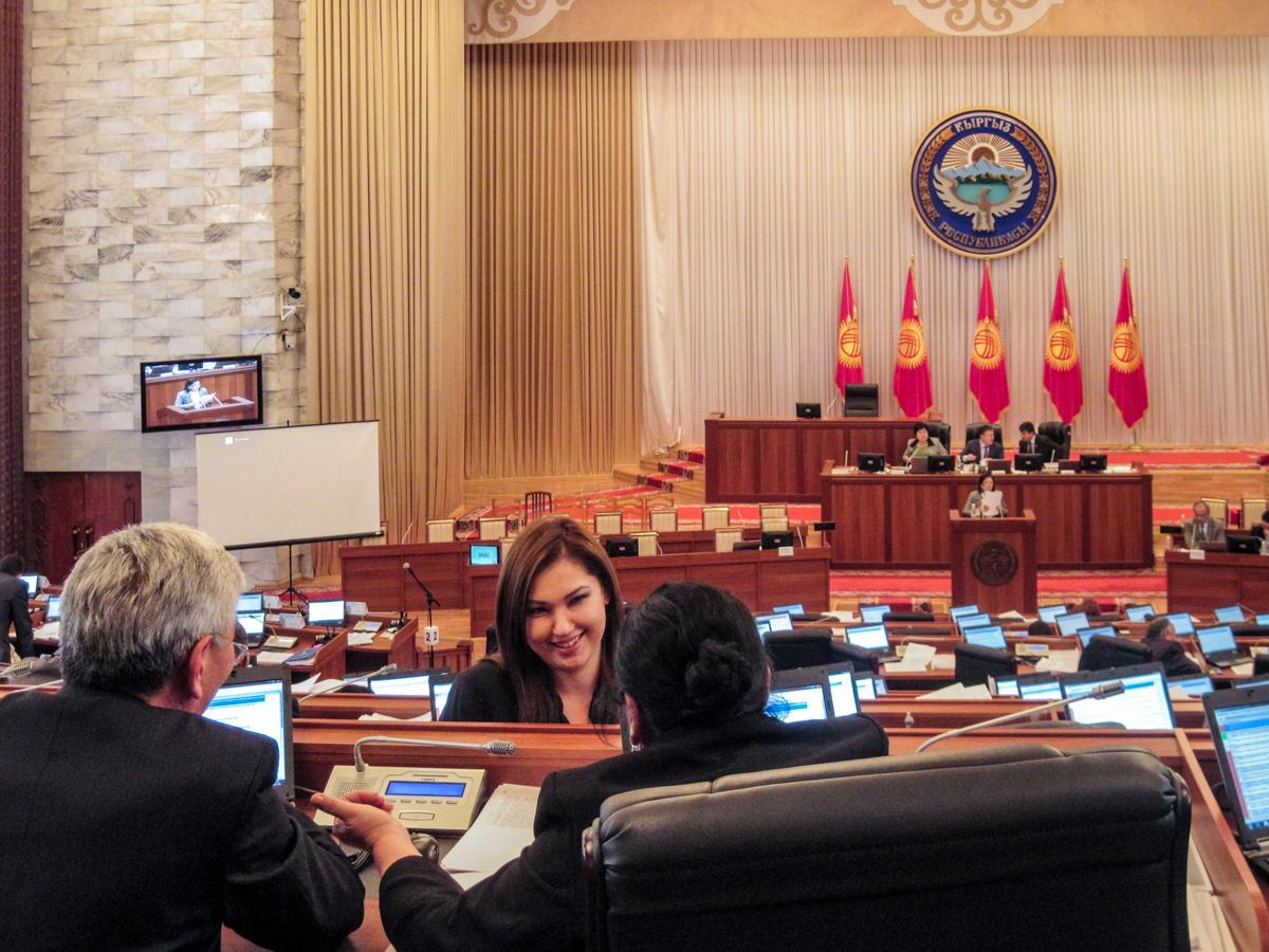 Im kirgisischen Parlament Zhogorku Kenesh