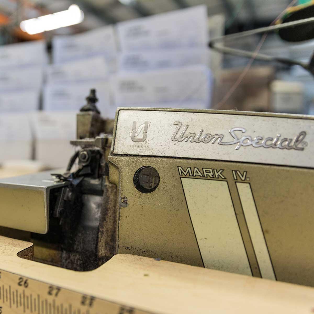 Strickmaschine in der Kidka-Wollfabrik im Norden des Landes